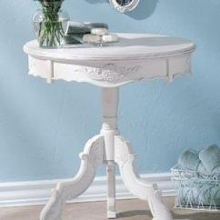 Accent Chair Gray Desk No Wheels Furniture, Romantic Carved Wood Table In White Distressed Finish - Design Ideas And ...