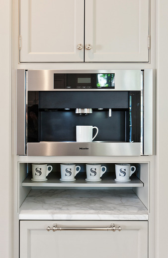 Built In Coffee Machine  Transitional  kitchen  More