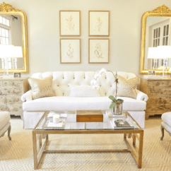 Settee Living Room Entertainment Center Ideas Glass And Brass Coffee Table French Munger Interiors