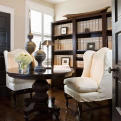 Feminine Executive Office Chairs Director Chair Covers For Sale Beige Walls - Traditional Den/library/office Benjamin Moore Grant Paul Corrie Interiors