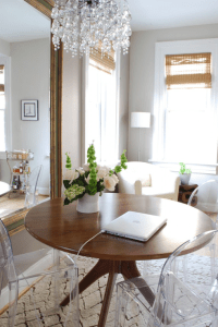 Antiqued Beveled Mirror - Eclectic - dining room - Sherwin ...