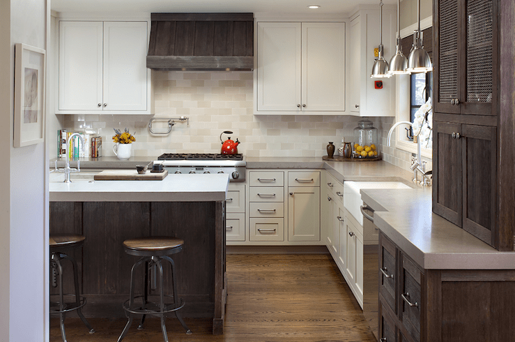 Two Tone Kitchen Transitional Kitchen Artistic