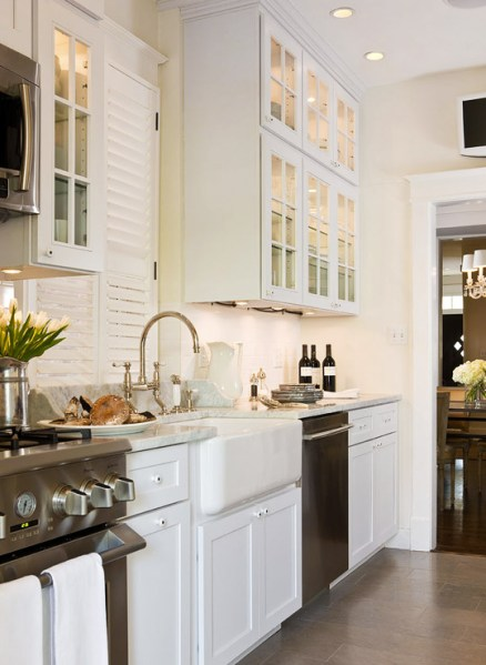 white galley kitchen designs Galley Kitchen - Traditional - kitchen - Benjamin Moore