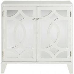 Mirrored Cabinets Living Room Moroccan Furniture Reflections Lyre White 2 Door Cabinet