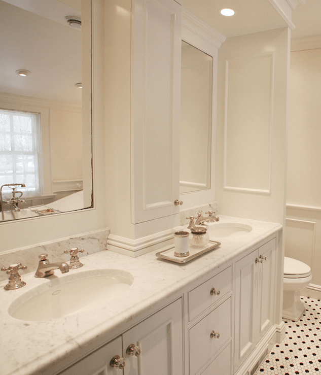 double vanity with center console
