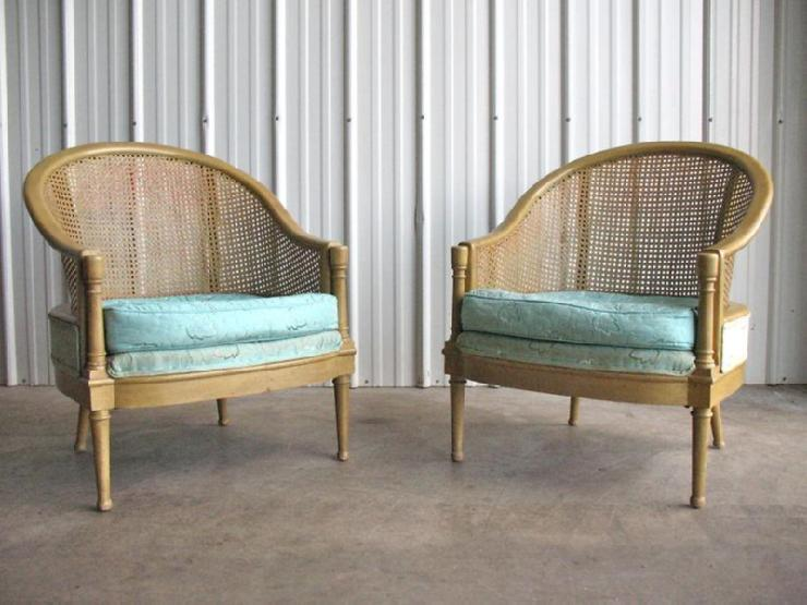 antique chairs ebay simple diy chair covers hollywood regency pair cane lounge probber baker -