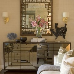Mirrored Living Room Round Couches Cabinet Eclectic Erinn V Design Group