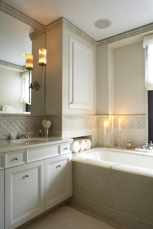 Ivory Bathroom Cabinets  Contemporary  bathroom  B