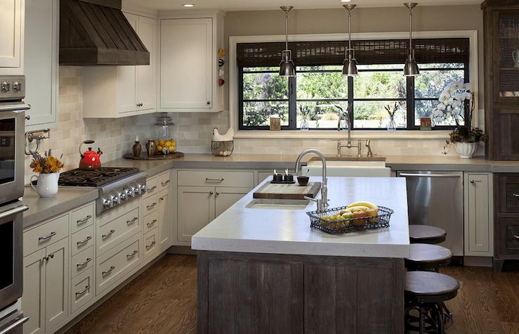 Distressed KItchen Island  Transitional  kitchen