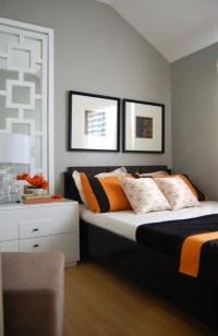 Gray And Orange Room Design Ideas
