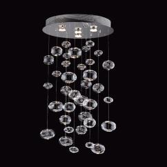 Hanging Lights Kitchen Blancoamerica Com Sinks Prospetto 5605 4 Light Bubbles Large Pendant ...