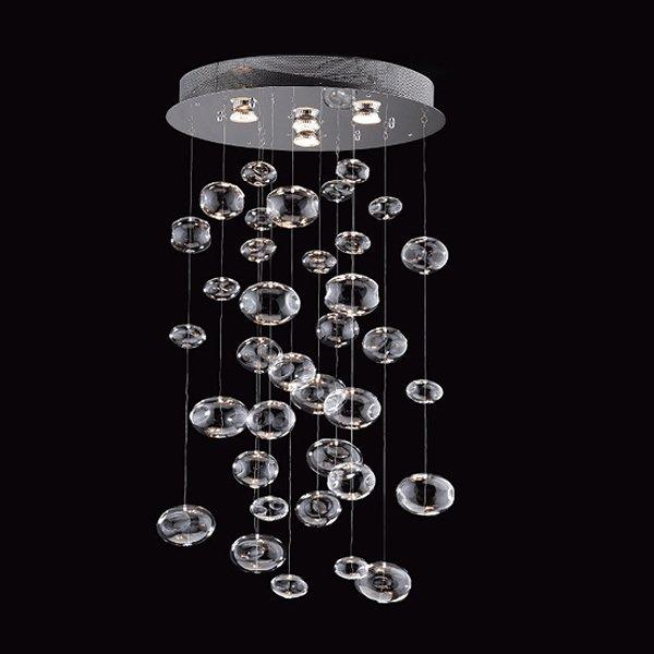 floating island kitchen sinks stainless steel prospetto 5605 4 light bubbles hanging large pendant ...