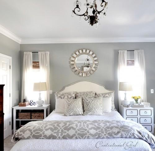 Silver Bedding Contemporary Bedroom Centsational Girl