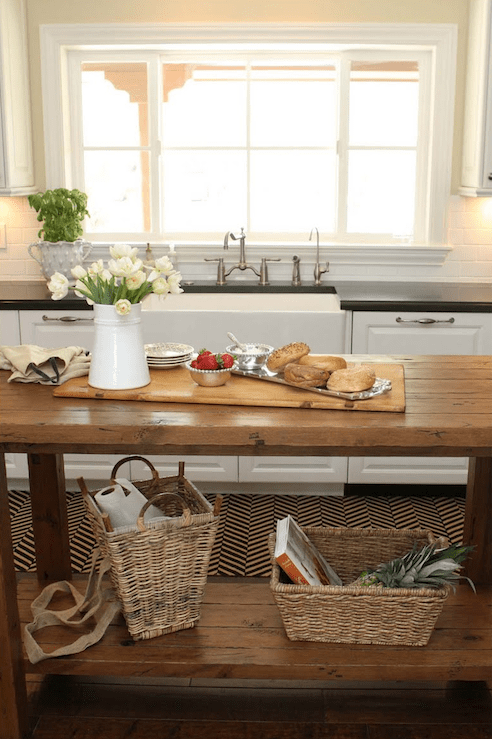 Salvaged Wood Island Transitional Kitchen The