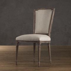 Nailhead Upholstered Dining Chair French Chairs Sydney Vintage Side Restoration Hardware Link On Pinterest View Full Size