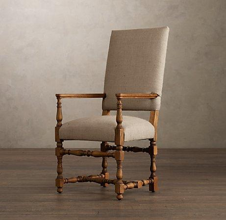 chair design wallpaper burlap covers for sale 1890 english baroque upholstered armchair - | restoration hardware