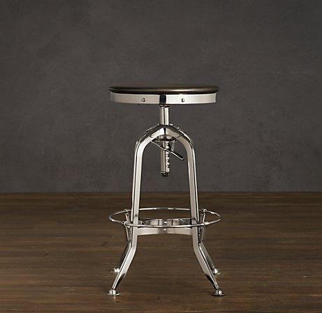 Vintage Toledo Barstool Polished Chrome