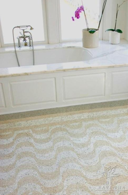Bathroom Floor Tile New Ravenna Mosaics