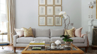 Light Gray Sofa - Transitional - living room - Morgan ...