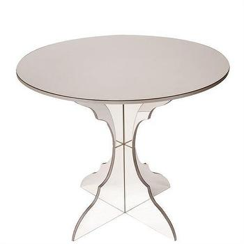mirrored pyramid living room accent side end table ideas for colour schemes regina andrew design lattice silver