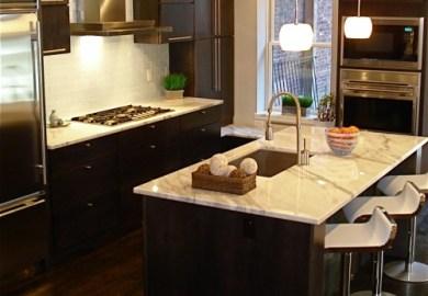 Contemporary Espresso Kitchen Cabinets