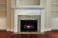 Mosaic Tiled Fireplace - Contemporary - living room