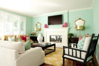 Green Blue Paint Colors - Contemporary - living room ...