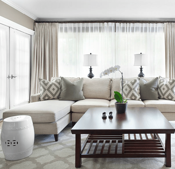 mitchell gold sectional sofa velvet slipcover - contemporary living room sherwin ...