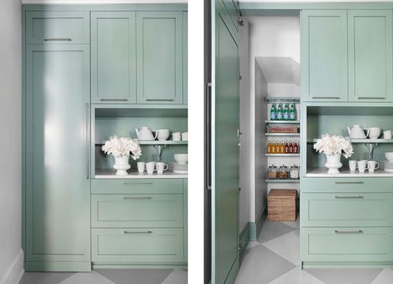 hidden kitchen pantry cabinets Hidden pantry - Transitional - kitchen - Mark Williams Design