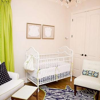 Green Curtains  Contemporary  nursery  Sherwin Williams