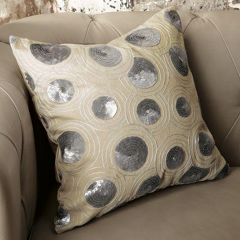 Sequins Circle Pillow Cover  west elm