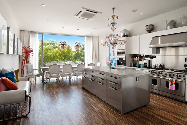 Stainless Steel Kitchen Island Contemporary Dining