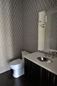 Trellis Bathroom Wallpaper Design Ideas
