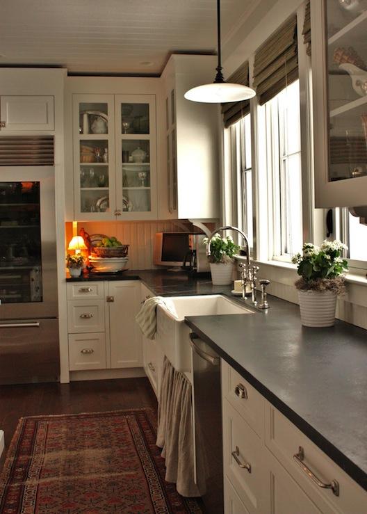 Skirted Kitchen Sink  Cottage  kitchen  Benjamin Moore