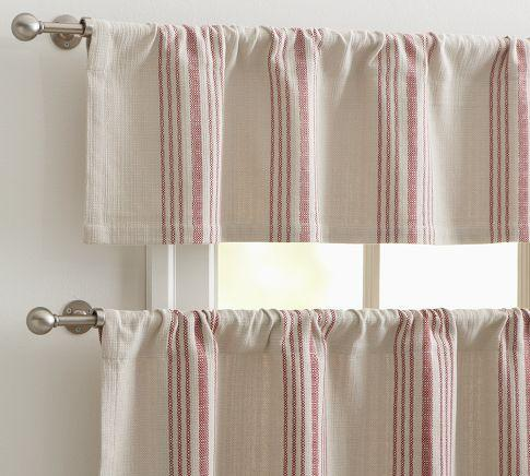 Blue And Ivory Stripe Curtains