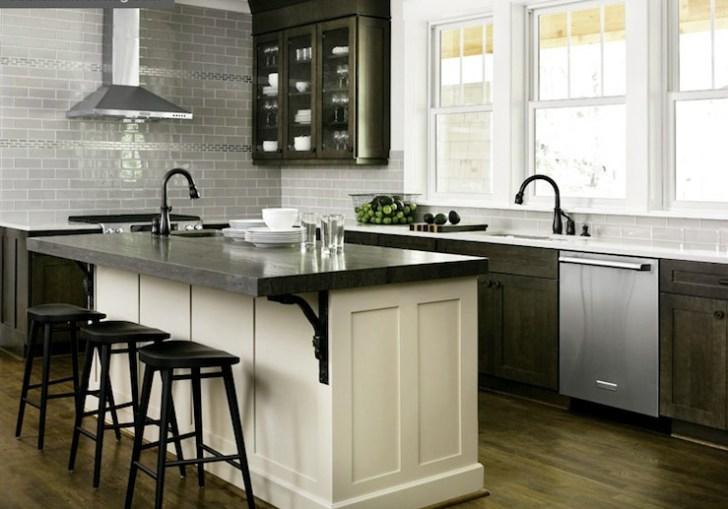 Distressed Espresso Kitchen Cabinets