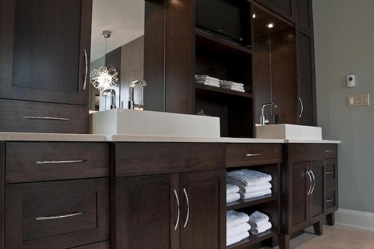 Espresso Cabinets  Contemporary  bathroom  Deslaurier