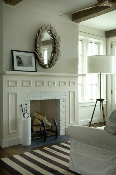 Round Mirror Over Fireplace Oval Mirrors Design Ideas