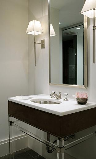 Lucite Washstand Design Ideas
