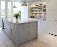Gray Kitchen Island - Cottage - kitchen - Tom Howley
