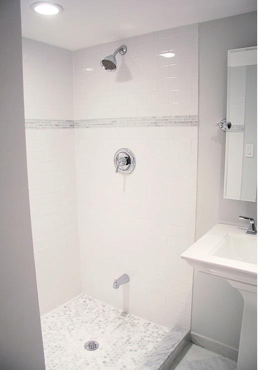 Subway Tile Shower  Contemporary  bathroom  Benjamin