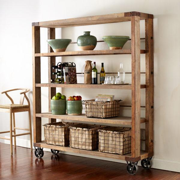 Reclaimed Pine Bookcase  Wisteria