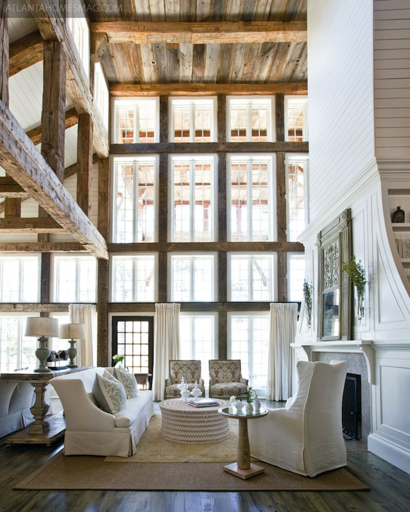 2 Story Living Room Cottage Living Room Atlanta Homes Amp Lifestyles