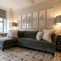 Apartment therapy living rooms gray velvet sectional sofa new
