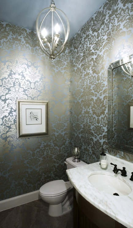 Blue Metallic Wallpaper Design Ideas