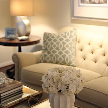 pillow ideas for leather sofa broyhill and fabric white tufted design