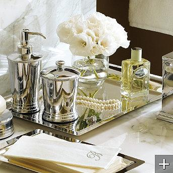 Mirrored Bathroom Tray