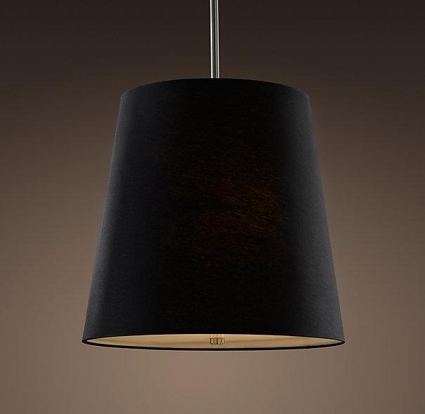 Fabric Drum Shade Pendant Lighting