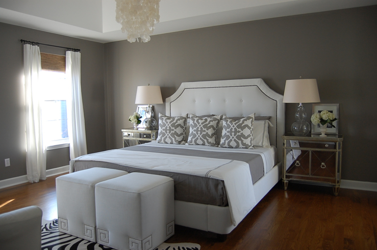 Gray Bedroom  Contemporary  bedroom  Benjamin Moore
