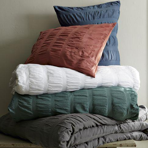 Seersucker Duvet  Shams  west elm